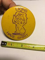 Vintage Button 1970's Gloucester City High School New Jersey Lions Have Spirit