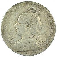 1901 CYPRUS SILVER 9 PIASTRES, VG