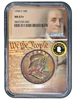 1958-D EVEREST FRANKLIN NGC MS 67 STAR- We The People
