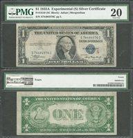 "$1 1935-A Fr. 1610 SILVER CERTIFICATE Experimental ""S"" PMG VF 20"