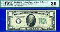 *1934-D $10 FRN (( Crazy Rare )) ** STAR ** PMG Very Fine 30 # E02204279*
