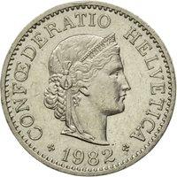 Coin, Switzerland, 10 Rappen, 1982, Bern, EF(40-45), Copper-nickel, KM:27