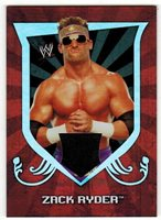 Zack Ryder 2011 Topps WWE CLASSIC AUTHENTIC EVENT WORN SHIRT RELIC