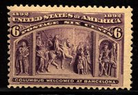 US Scott 235 Columbian Expo issue Mint Never Hinged $160.00