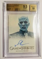 Game of thrones Season 6 Night King-Richard Brake 9.50 BGS Gem Mint autograph!