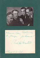 THE PRAGUE STRING QUARTET matted autograph ensemble signed by all 4, March, 1955