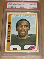 1978 Topps #320 John Stallworth - Pittsburgh Steelers HOF rookie PSA 8