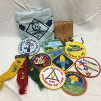 Vintage 1980-90's Boy Scouts Cub Scouts Patches Badges Scarf Pins
