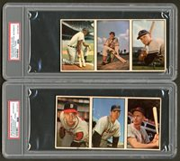 Lot # 323: 1953 Bowman Color PSA Graded Baseball Salesman Panel Collection (3)