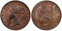 BRITAIN Victoria. 1854 CU Halfpenny. PCGS MS64BN. KM 726; SCBC-3949.