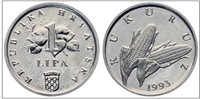 CROATIA 2 Lipe 1993 UNCIRCULATED mint shine First issue almoust 26 years old