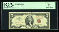 DBR 1963 $2 Legal Fr. 1513 PCGS App 35 Serial A03054182A
