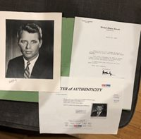 "Robert Kennedy RFK Hand Signed 8 x 10"" Photograph - PSA/DNA Authentic W/ Folder"