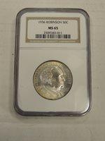 1936 NGC Robinson Commemorative Half Dollar NGC MS 65 ** Nice Mild Lustre 3011