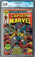Captain Marvel #44 CGC 3.0 (May 1976, Marvel) 30¢ Price Variant, Drax appearance
