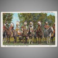 Vintage Oregon Trail Souvenir Postcard with Bannock Indians