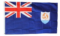 ANGUILLA FLAG 3' x 5' FLAG - NEW 3X5 FOOT INDOOR OUTDOOR COUNTRY FLAG