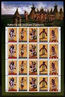 US Scott 3072-76 American Indian Dances Pane of 20