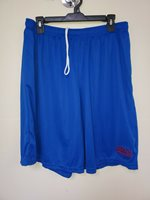 0724 NEW YORK GIANTS Polyester Jersey SHORTS Embroidered ROYAL W/Pockets New