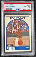1989 Hoops Isiah Thomas #250 Basketball Card Detroit Pistons PSA 8 NM-MT