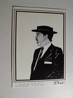 Lester Young-Prints from original drawings from LA artist Ramsess