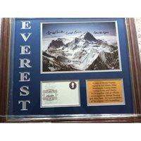 1953 Ascent of Mt Everest team signed display RARE & UNIQUE!
