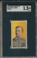 1909 T206 PIEDMONT - HUGHIE JENNINGS, PORTRAIT - SGC 1.5 FAIR (SVSC) - CENTERED
