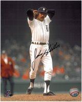John Hiller Autographed Detroit Tigers 8x10 Photo #1 - Home Action