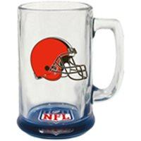 Cleveland Browns Hunter Mfg NFL 15oz Bottoms Up Highlight Sport Glass Mug FREE