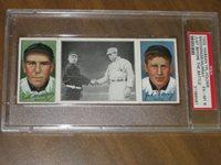 1912 T202 Hassan Triple Folders Just Before The Batle - Snodgrass / Murray PSA 6