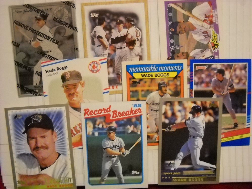 Wade Boggs Baseball Cards 1997 Upper Deck 2000 Topps