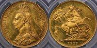 1887 Two Pound - PCGS MS62 1887 Two Pound