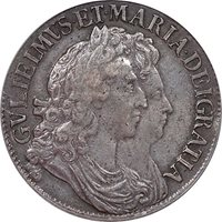 Great Britain 1691 William and Mary Crown PCGS XF-40 Great Portraits!!