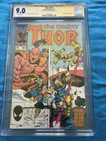 Thor #357 - Marvel - CGC SS 9.0 Signed by Walt Simonson