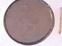 UK FARTHING 1906 KING EDWARD VII LITTLE WEAR, GREAT DETAIL