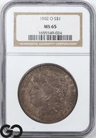 1902-O MS65 Morgan Silver Dollar Silver Coin NGC Mint State 65