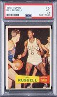 1957/58 Topps #57 Bill Russell SP Rookie Card – PSA VG+ 3.5