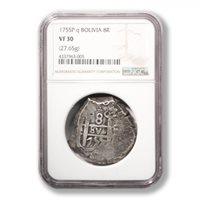 Bolivia 1755P Q. Potosi Mint 8 Reales graded by NGC
