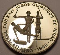Proof Saint Thomas & Prince Island 1993 1,000 Dobras~Atlanta Olympics~Free Ship