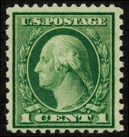 Scott 538, F-VF NH, 1919 1c green