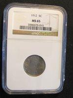 1912 NGC MS65 Liberty V Nickel