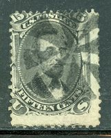 US Scott 77 Lincoln used stamp Fancy Cork Cancel LOVERLY