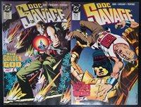 "Doc Savage #9-10 (1989, DC) ""The Golden God"" Parts 1 & 2 Complete Set Kubert Cvr"