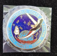 FIRST FLIGHT OF DISCOVERY-ENAMELED TOKEN W/NAMES
