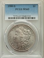 1900-S $1 MS65 PCGS. PCGS Population: (623/128). NGC