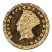 1882 $1 Indian Head Gold PF-67 UCAM NGC