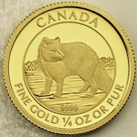 Canada 2014 $10 Arctic Fox 99.99% Pure Gold Proof Uncirculated Numismatic Coin