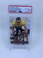Lance Armstrong Signed Sports Illustrated For Kids Card IP Auto PSA/DNA