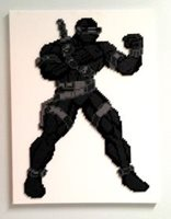 GI JOE Commando Snake Eyes Version 2 Fine Artwork on 18 by 24 Canvas