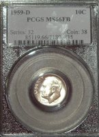 1959-D PCGS MS66 FULL BAND BLAST WHITE
